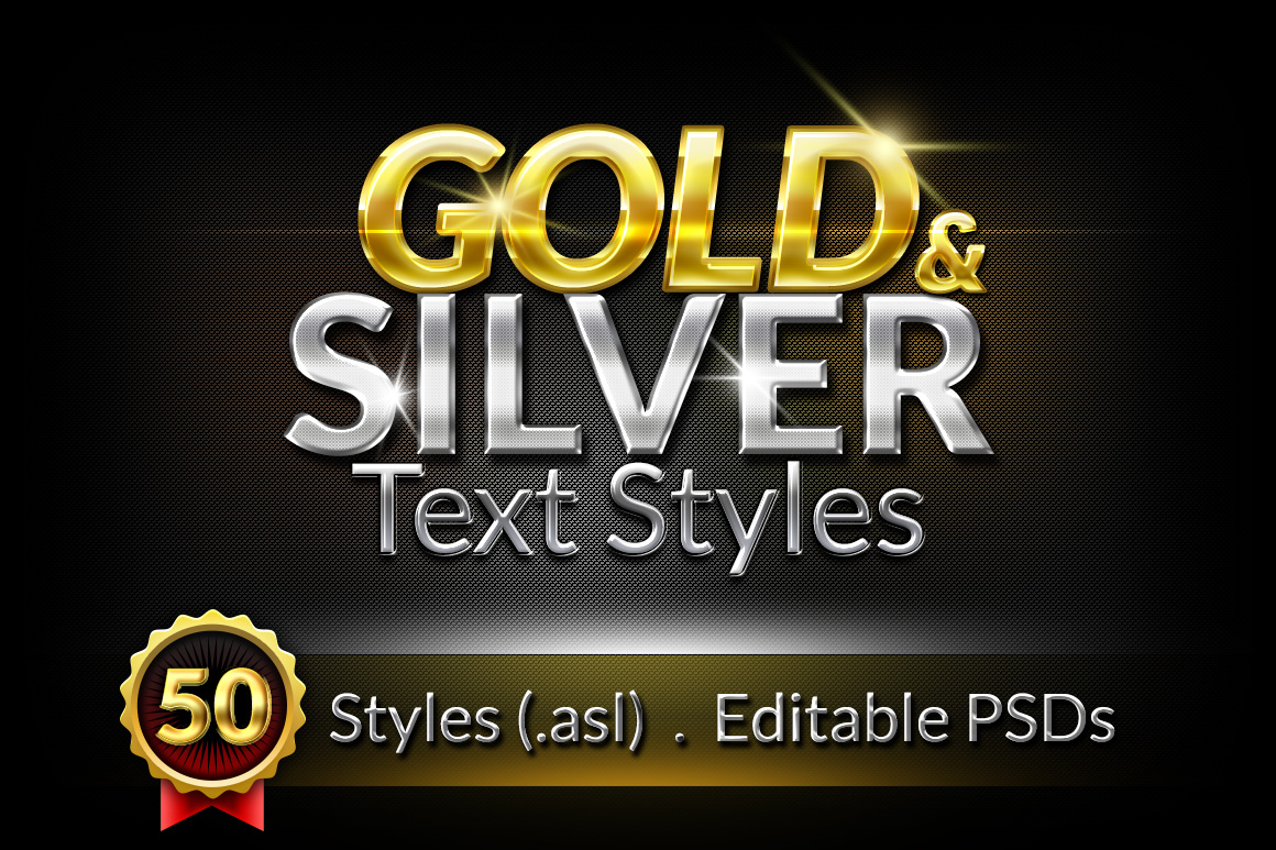 Gold & Silver Text Styles
