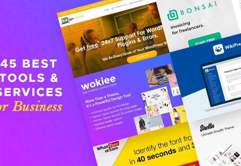 45 Tools & Services For Business