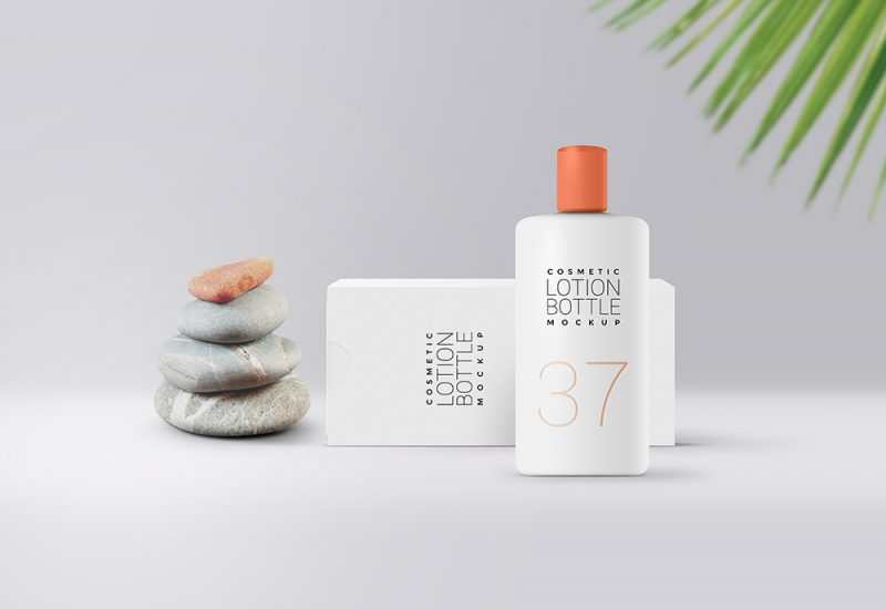 Cosmetic Lotion Bottle Mockup