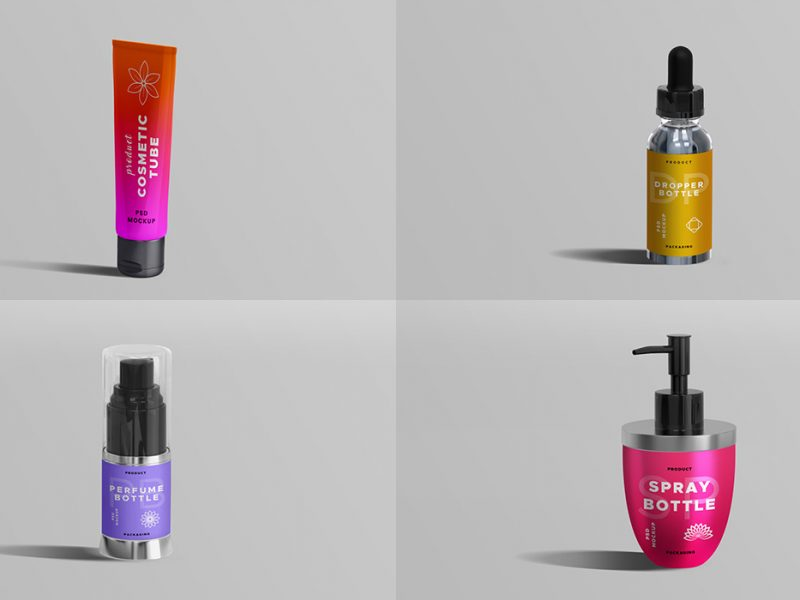 Cosmetic Product PSD Mockups