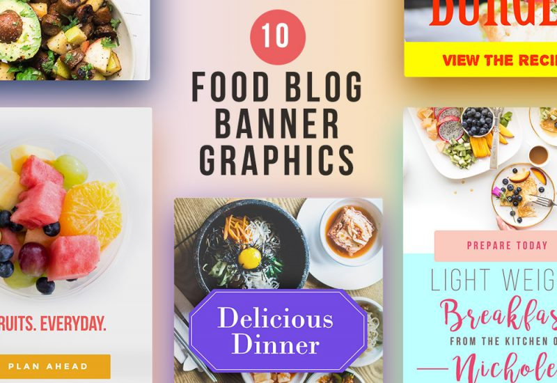 Food Blog Banner Graphics