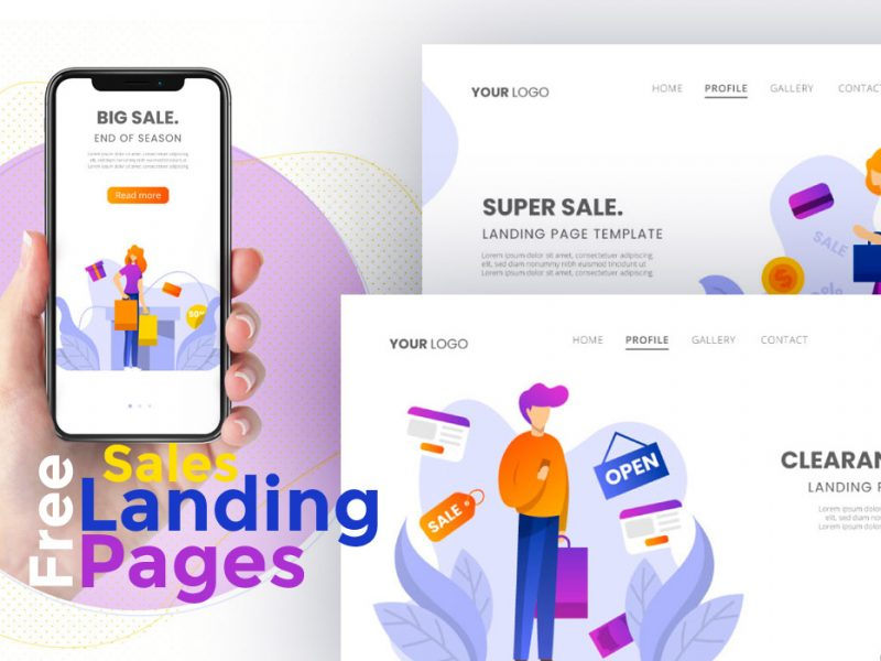Free Vector Sales Landing Pages