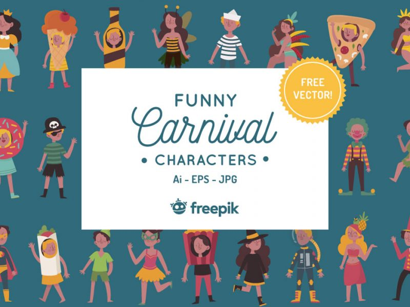 Funny Carnival Characters