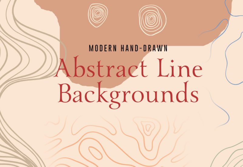 Hand-drawn Vector Abstract Line Backgrounds