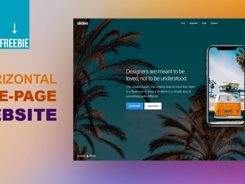 Horizontal One Page Website