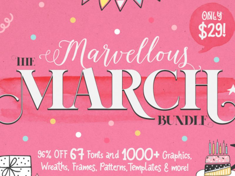 Marvellous-March-Fonts-Graphics-Bundle