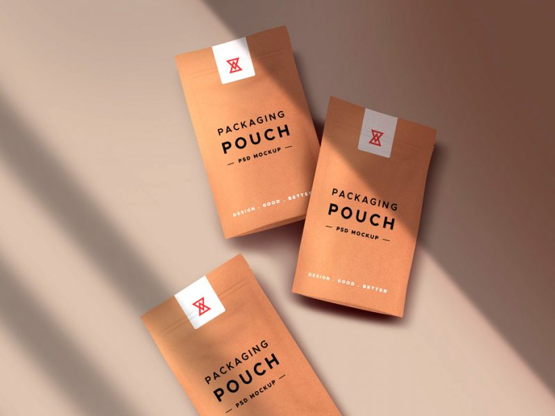 Paper Pouch Packaging Mockups