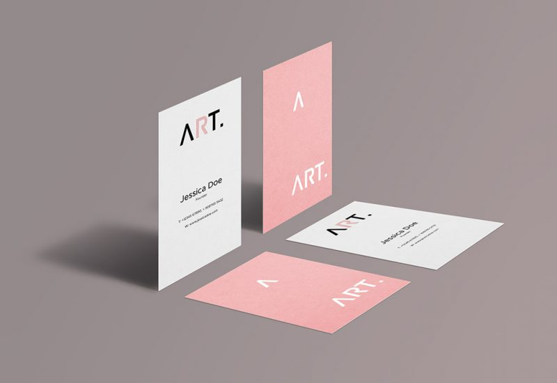 Perspective Business Card Mockups