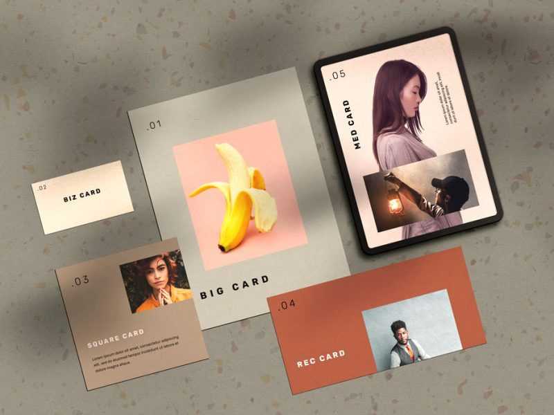 Stationery Cards Mockup