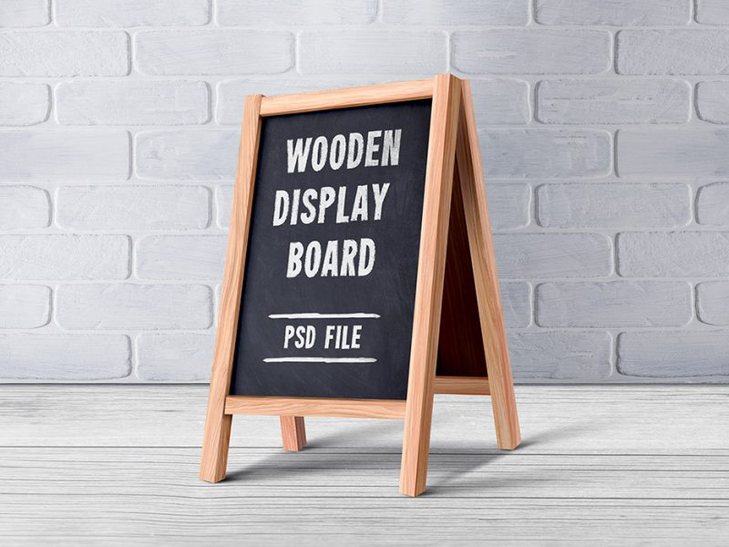 Wooden Menu Display Board