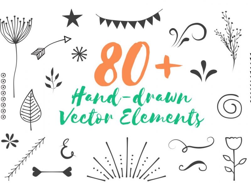 Free 80 Handdrawn Vector Elements