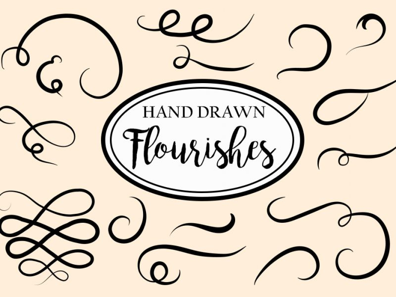 Free Vector Decorative Flourishes