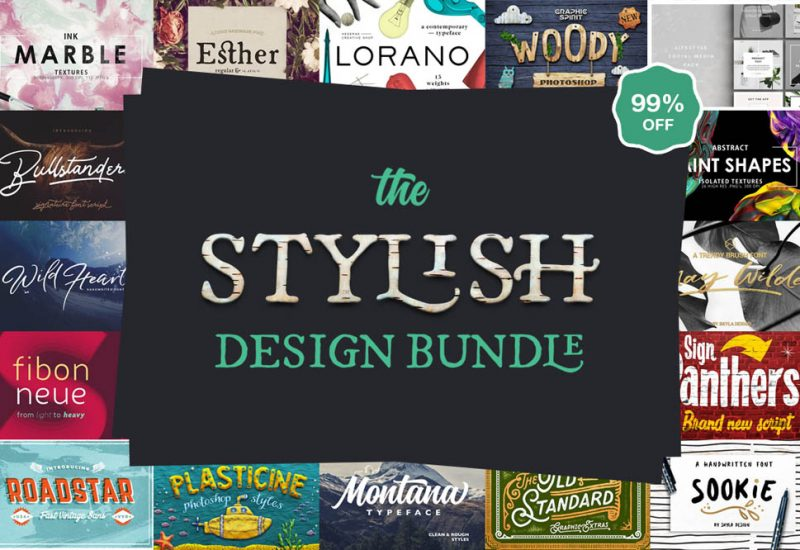 Stylish Fonts & Graphics Design Bundle